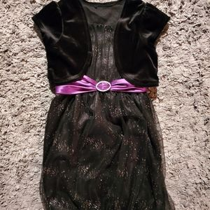 black sparkle dress girls size 8